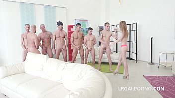 kira thorn very first 7on1 dual buttfuck group.
