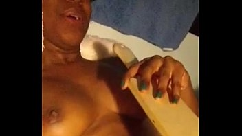 black fuckslut paddles her cunny as.
