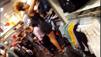 candid spycam crimson-hot mall employee dark-hued sundress cock-squashing.
