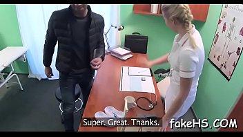 faux doc gets her slit beaten inwards faux polyclinic