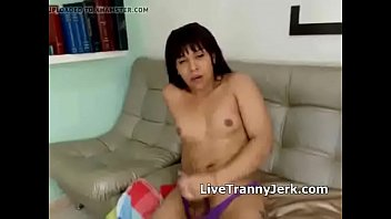 candy latina transsexual blows a flow