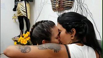 latina lezzies smooching