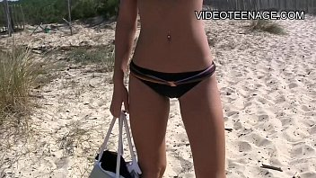 wondrous teenie nude at beach