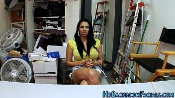 immense-boobed latina casting screw
