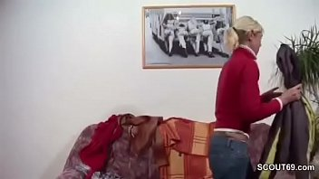 german mommy and parent screw firm when home alone