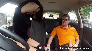 very lovely driving student romps outdoor