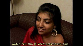 indian lady in crimson saree