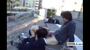subtitled extreme japanese public bareness outdoor.