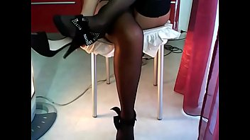 unexperienced nubile on cam gams and foot taunting.
