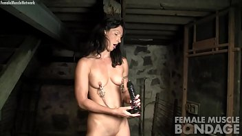 fit porn industry starlet tugging faux-cock and dressed.