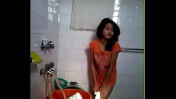 desi crimson-hot damsel nude in shower flashing to boyfriend