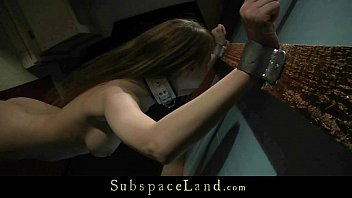 encaged meaty-boobed sub suffers obedience