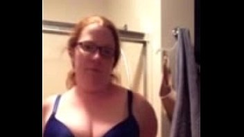 wwwdirtycamsgirlscom - crimson headed wifey undressing on web cam