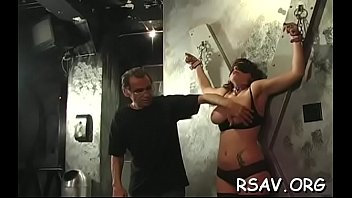 immense-titted honey in violent s&m action