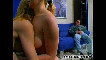 inexperienced homemade groupsex act with facial.
