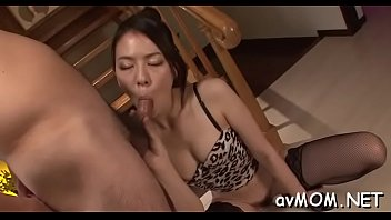 floozy japanese mother fellates phat fuckpole and her.