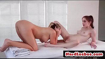 rubdown pussylicking lesbo masseuse - brett rossi and.