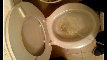 gigantic dark-hued manhood peeing in wc