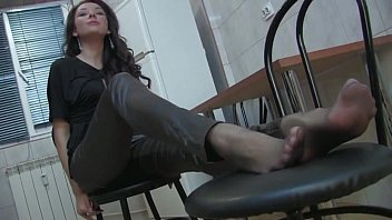 uber-sexy dark haired chick in leather pantyhose and.