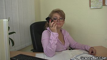 office mature in milky stocking tempts.