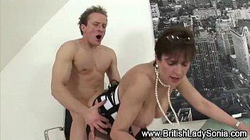 mature classy brit takes knob