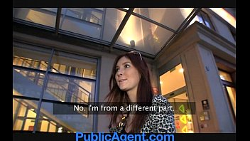 publicagent cool dark-hued-haired pounded outdoors