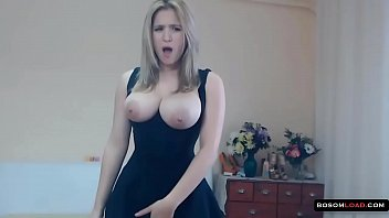 splendid hungarian chick with immense jugs packed with milk