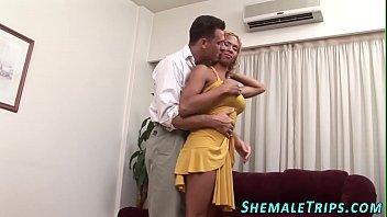 ebony ladyboy gets popshot
