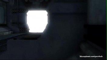 3 dimensional hard-core alien boink rock hard on ship