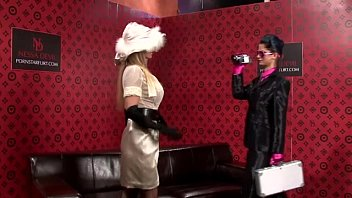 classy spy chick lesbos smooching