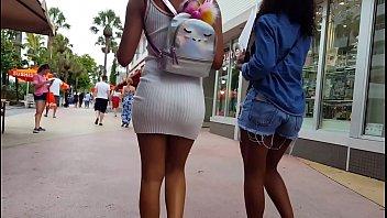 candid black teenage bum shopping vpl