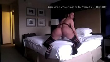 transsexual ashley hunter jiggling that yam-sized bum part.