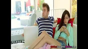 astounding momma with stepdaughter give teenage boy oral job
