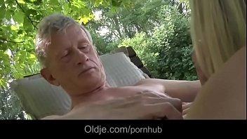 oldman drills kinky and magnificent blond.