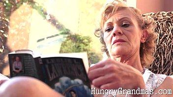 classy grandma gets gash tongued