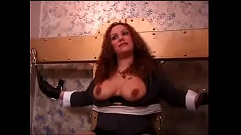 massive bumpers red-haired roped before getting her bumpers taunted