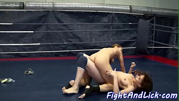 pussylicked euro grappling a dyke honey