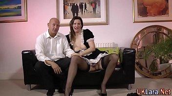 senior brit maid fondle