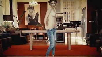 wondrous captivating scorching lady undressing nude