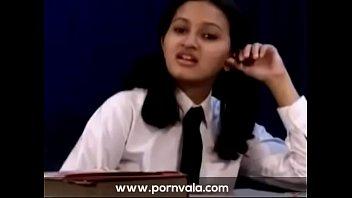 teenie indian school gal liquidating her school sundress.