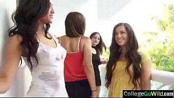 fine school ladies caroline amp_ chloe in group.
