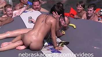 nubiles tonguing gash out in the open part 1
