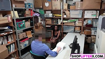 xxl-chested black nubile failed at shoplifting