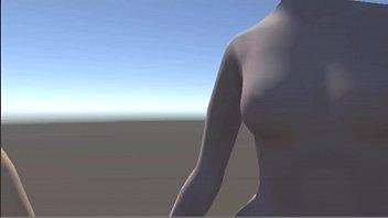 3 dimensional cartoon - nude nymphs
