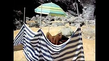 french nudiste wanks on the beach