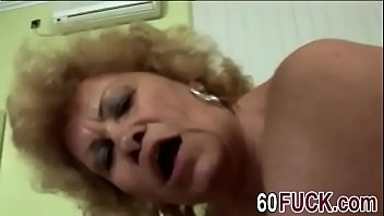 messy grandma blows rigid meatpipe and.