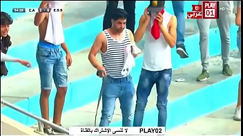 tunisian supporter demonstrates his jizz-pump to.