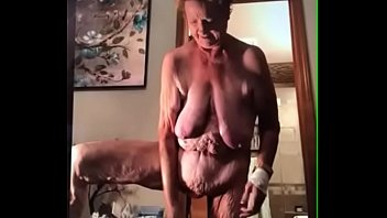 aged grandmother with a saggy abdomen and tons.