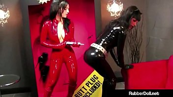 gal dominance goddess rubberdoll humped by boxed woman.