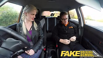 faux driving school yam-sized baps unshaved snatch student.